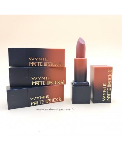 Rouge à Lèvre 'MATTE LIPSTICK 24H' - 02 MARRON - WYNIE