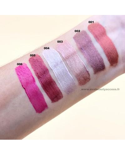 Swatch Rouge à lèvre liquide METAL • Rouge à Lèvre à Petit Prix • Eva Beauty Access