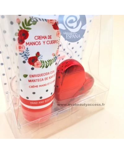 Coffret Crème Main et Corps + Eau de Parfum - ROUGE - FLOR  DE MAYO