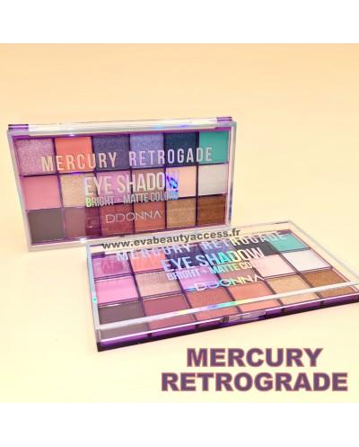 Palette 18 fards à paupières MERCURY RETROGRADE • Maquillage à Petit Prix • Eva Beauty Access