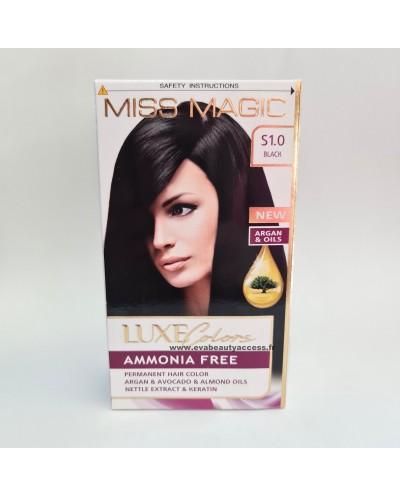 Coloration Sans Ammoniaque Cheveux Luxe Colors - S1.0 NOIR - MISS MAGIC