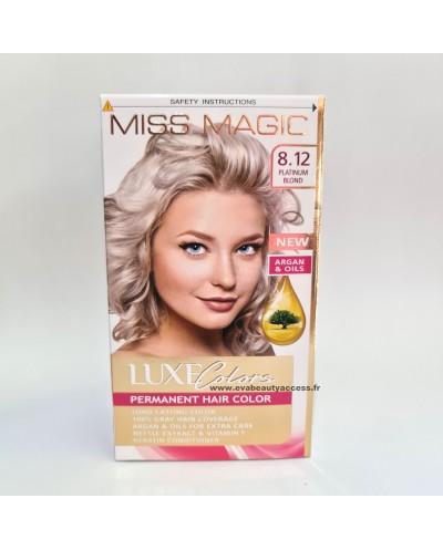 Coloration Permanente Cheveux Luxe Colors - 8.12 Blond Platine - MISS MAGIC