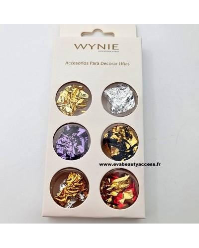 Boîte de 6 Décorations Ongle 'DUO BRISURE FEUILLES' - WYNIE