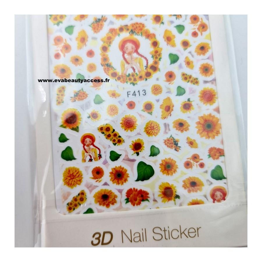 Grande Planche de Stickers Ongles - F413 - WYNIE