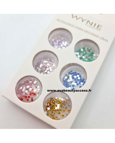 Boîte de 6 Décorations Ongle 'STRASS CUBE' - WYNIE